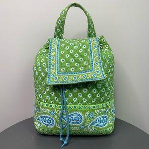 Vera Bradley Small Drawstring Flap Backpack